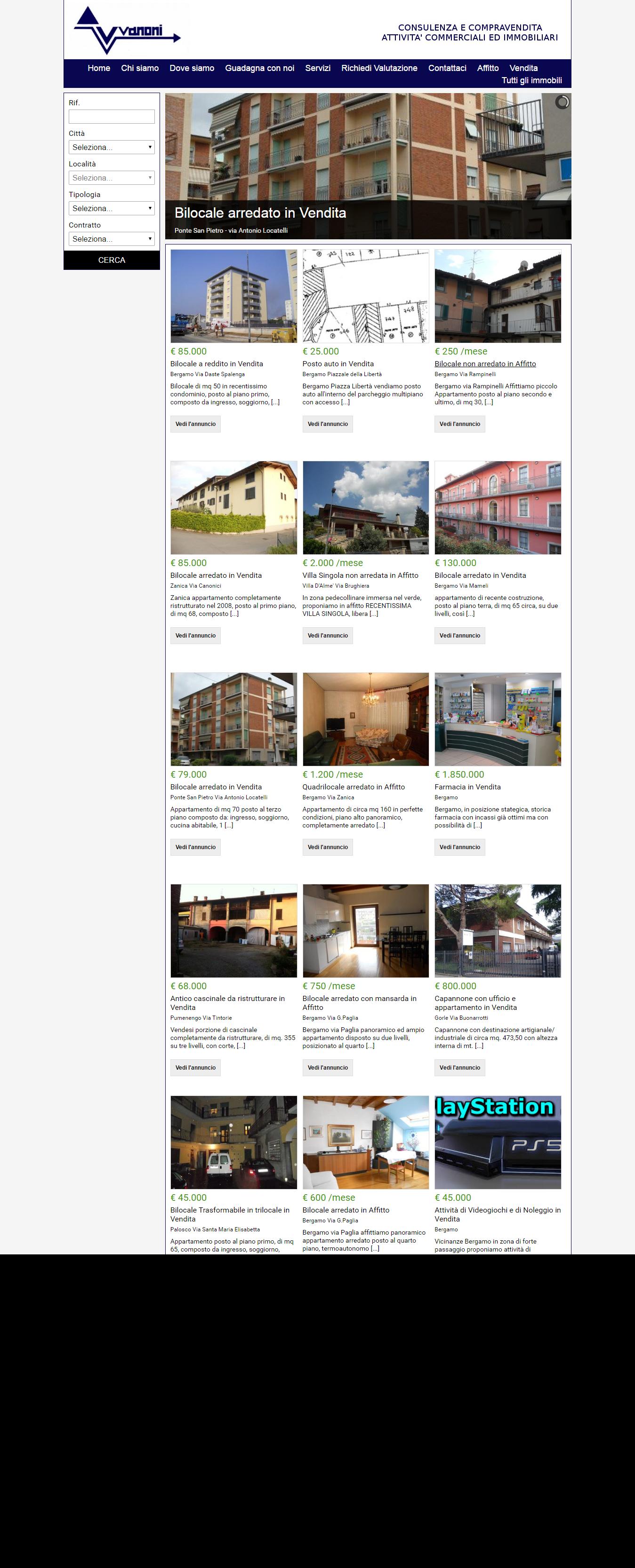 Immobiliare vanoni.it Agenzia Immobiliare