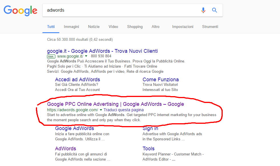 adwords immobiliare