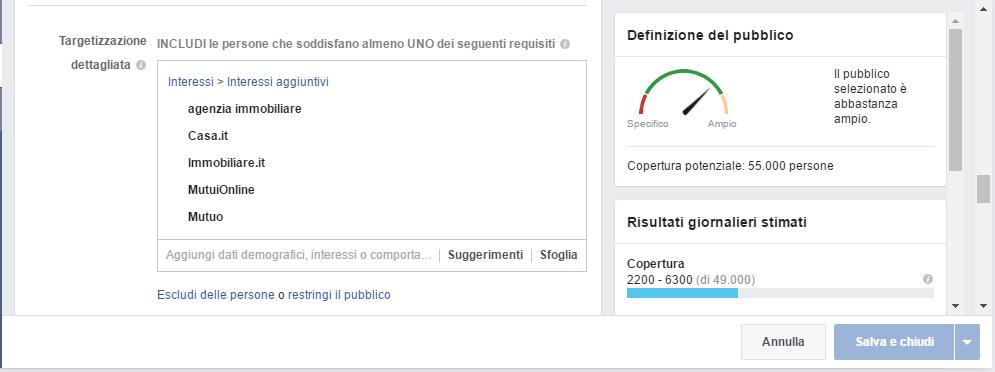 facebook pubblicità per agenzie immobiliari